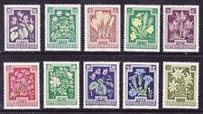 Österreich 1948 ANK.Nr.877-886 postfrisch**Heimische Blumen