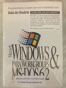 Portuguese Microsoft Windows for Workgroups 3.11 & MS-DOS 6.21 Diskettes Manual