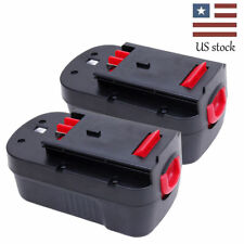 2 PACK 2000mAh Battery For Black & Decker Firestorm 18 Volt FS18BX FS180BX HPB18