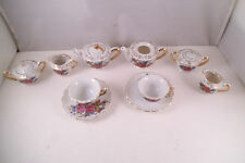 Vintage Mixed Made in Japan Miniature Child's Tea Set Teapot Pink Roses