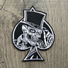Ace Skull - Biker Iron on Embroidery Cloth Patch Sew on Badge - Clothes Jacket