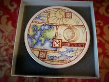 Pickard  Millennium Display Plate, Hand Painted, Made in USA, Size 8X8 Gold trim