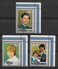 NIUE , NEW ZEALAND , 1981 , CHARLES & DIANA , SET OF 3 STAMPS , PERF , MNH