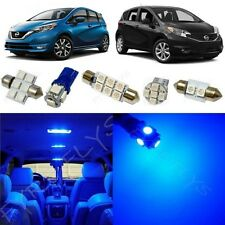 6x Blue Interior LED Light Package Kit fits 2014-2017 Nissan Versa Note NV1B