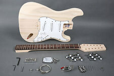 DIY 12 STRING STRAT STYLE ELECTRIC GUITAR LUTHIER BUILDER KIT