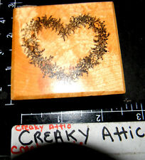 PSX DAINTY FLOWER HEART ROSE RUBBER STAMPS RETIRED f-787