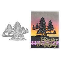 DIY Forest Metal Cutting Dies Stencil Scrapbooking Album Stamp Paper Card Crafts