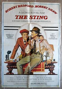 """STING, The Lebanese English Text One sheet Film Movie Poster 27.4""""x40 1974 F/VF"""