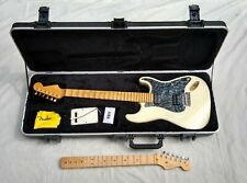 White Fender American Standard Stratocaster HSH hard case extra scalloped neck