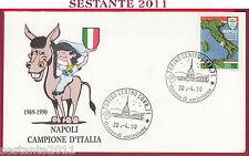 ITALIA FDC  NAPOLI CAMPIONE D'ITALIA 1989 - 90 1990 ANNULLO TORINO T76