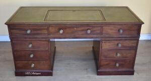 19th Century George III Mahogany Pedestal Desk