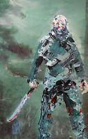 ORIGINAL Jason Vorhees Friday the 13th Palette Knife Horror Movie Art Painting