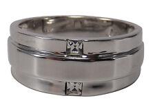 Women's Ring - Deluxe 2 Zirconia - Size 9 -> 19mm - Rhodium Plated -inkgrafix