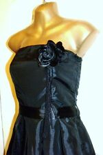 💖NEW SUPERB QUALITY BLACK MISO PROM EVENING COCKTAIL DRESS SIZE 8  # 817