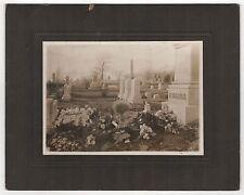 1900s RANKIN Fresh Grave FALL RIVER MASSACHUSETTS Photo MACABRE Morbid CEMETERY