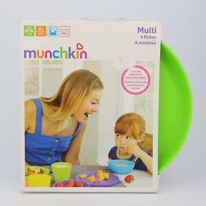 Munchkin Multi 4 Plates BPA Free For Kids 6m+