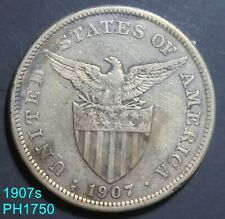 PHILIPPINES Peso 1907-S circulated 80% silver FREE SHIPPING IN UNITED STATES