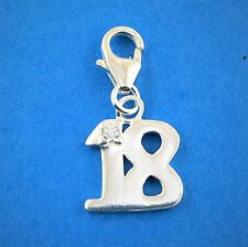 925 Sterling Silver Birthday Clip on Charms all rings are Soldered 18 years