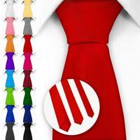 Klassische Krawatte inkl. Anleitung - 3 verschiedene Breiten und Farben Satin