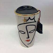 Starbucks 2015 Golden Crown Siren Double Wall Ceramic Traveler Tumbler Mug