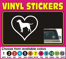 Love my Labrador Lab heart Dog Car animal window vinyl decal sticker