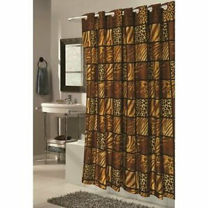 "Carnation Shower Stall-Sized EZ-ON® ""Wild Encounters"" Polyester Shower Curtain"