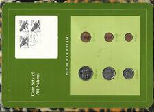 Coin Sets of All Nations Iceland 10 Kronur 1984 5,1 Krona,5,10,50 Aurar 1981 UNC