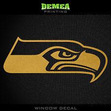 "Seattle Seahawks NFL -  Gold Vinyl Sticker Decal 5"""