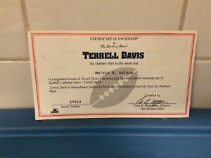 Danbury Mint  -  Denver Broncos Terrell Davis   -   C.O.A