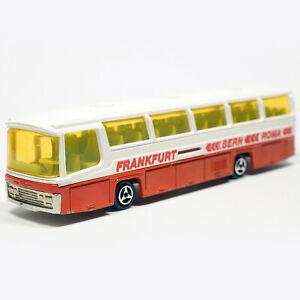 Majorette Neoplan Bus N373 Frankfurt Bern Roma1975 VTG Diecast Cars Miniaturas