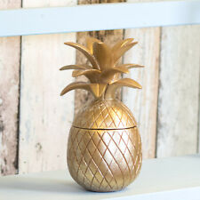 Rose Gold 18cm Pineapple Fruit Trinket Pot Ornament Decorative Item Home Decor