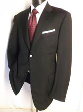 Amazing Canali Solid Black 2 Button Sport Jacket 44L Made in Italy
