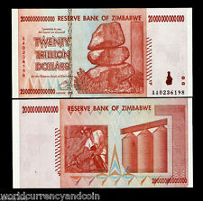 ZIMBABWE 300 Trillion Dollars 20 X 15 Pcs,*AA* 2008 UNC 50 & 100 trillion Series