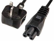 PRO ELEC - C5 Cloverleaf to 13A UK Plug Power Lead, 2.5A 2m