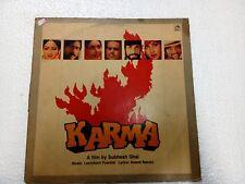 KARMA LAXMIKANT PYARELAL 1986  RARE LP RECORD OST orig BOLLYWOOD HINDI VINYL VG