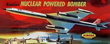 Aurora Russian Nuclear Powered Bomber Jet Model Kit Replica Sticker or Magnet