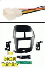 11-14 Mitsubishi Outlander Sport Gloss Radio Install Car Dash Kit +Wire Harness