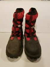Timberland Snow/Winter Boots Quilted Red & Black 72912M, Youth 3.5