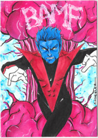 Marvel PSC Personal Sketch Card Anthony Wheeler NIGHTCRAWLER X-Men Archives