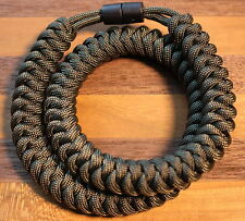 550 Paracord Snake Weave Survival Necklace Olive Drab Green (21 inches)