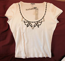 "Elegant M&S ""Per Una"" cotton/vicose off-white blouse/top (18). Marks & Spencer."