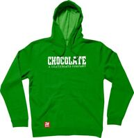 Chocolate Skateboards Mens Heritage Green Pullover Hoody SRP£54.99 Clearance