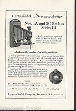 1924 KODAK advertisement, No. 1A & 2C series III, new lenses f7.7