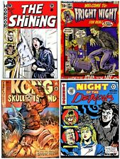 horror movie fake comics cover art  unofficial gildean t shirts take your pick