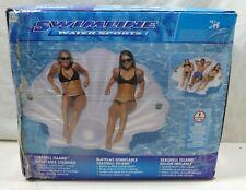Swimline Water Sports SEASHELL ISLAND Inflatable Lounger Headrest & Drink Holder