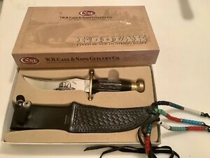 W.R. CASE& Sons Kodiak XX , Fixed Blade Knife In Box W Deco Beads On Sheath 1977