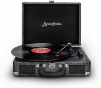 Byron Statics Vinyl Record Player, 3 Speed Turntable Bluetooth Record Player NEW