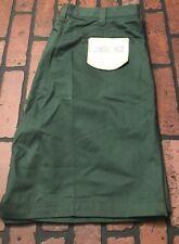 Cherokee Green Wrinkle Resist Pleated Khaki Shorts Men's Size 38 NWT