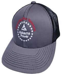 Alabama Power Electric Honoring Veterans Baseball Cap Mesh Hat High Crown NICE
