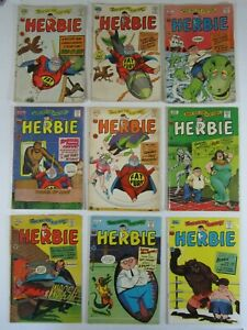 Herbie The Fat Fury 9 Issue Comic Lot #8 10 11 12 14 19 20 21 23 VG ACG 1965/66